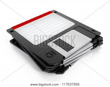 Floppy Disk Stack