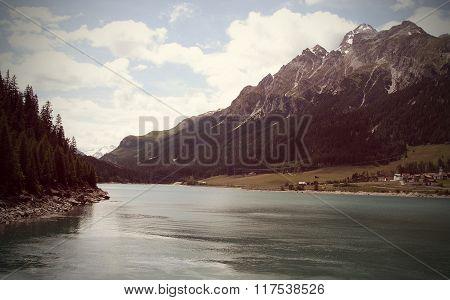 Lake Between Mountains, Switzerland.