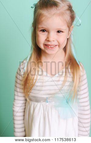 Happy child girl