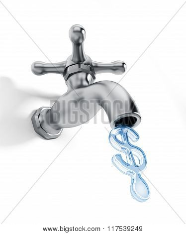 Water Faucet With Dollar Shaped Water Drop