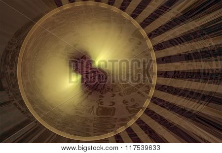 Abstract Fractal Pattern In The Form Of Circles And Stripes