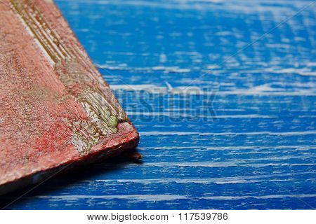 Painting tools colour palette on abstract artistic background