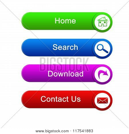 Multi-colored buttons for the site