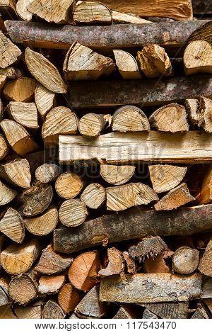 Firewood Background Vertical Image