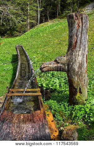 Old Wooden Water Well