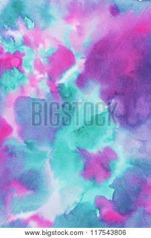 Hand painted hi-res colorful watercolor texture.