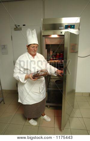 Chef Opening Fridge
