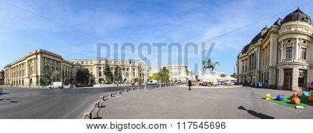 Bucharest, Romania - September 23, 2013 - Panoramic View Of The Bucharest City Center In A Sunny Day