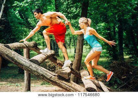 Fitness trail couple