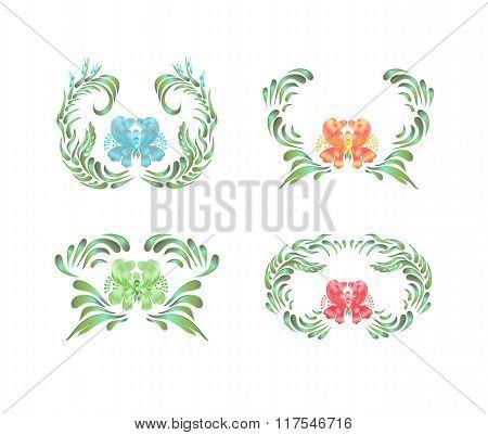 Floral ornament. Ukrainian folk art.