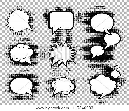Comic speech bubbles icons collection