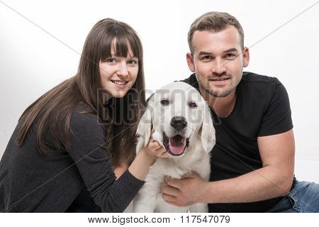 Family Portrait With A Dog