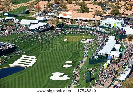 Scottsdale, Arizona, Usa-february 6, 2016-aerial View Of The Waste Management Phoenix Open
