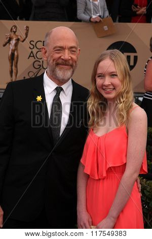 LOS ANGELES - JAN 30:  JK Simmons at the 22nd Screen Actors Guild Awards at the Shrine Auditorium on January 30, 2016 in Los Angeles, CA