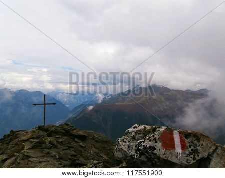 Austrian summit cross