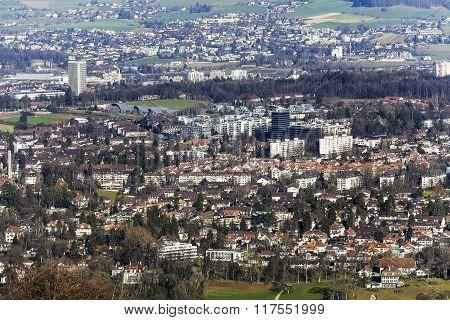 Aerial View Of Bern, Switzerland