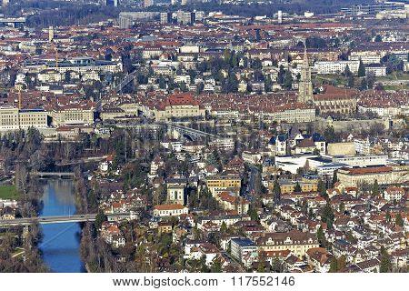 Aerial View Of City Of Bern, Switzerland