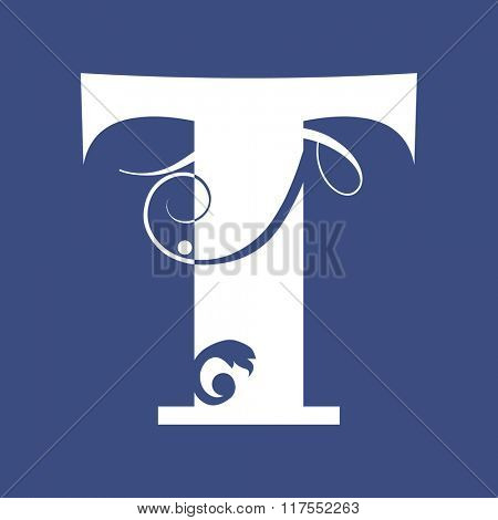 calligraphic letter T