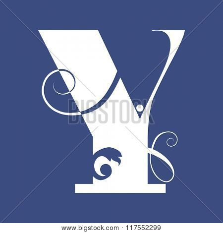 calligraphic letter Y