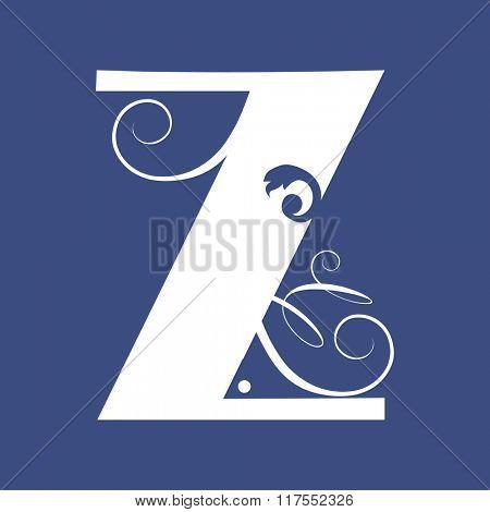 calligraphic letter Z