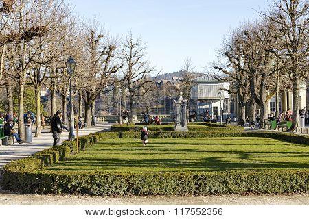 Bern, Park At The Muenster Platform