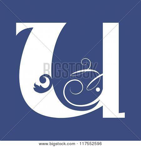 calligraphic letter U