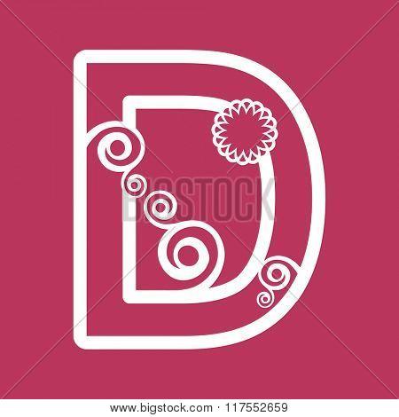 ornamental letter D