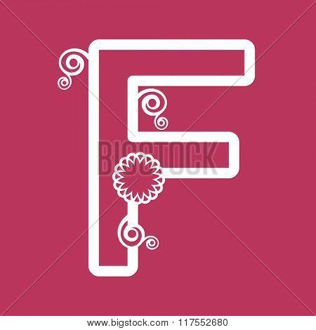 ornamental letter F