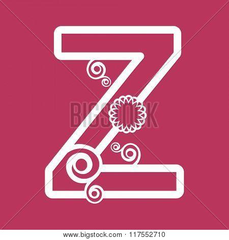 ornamental letter Z