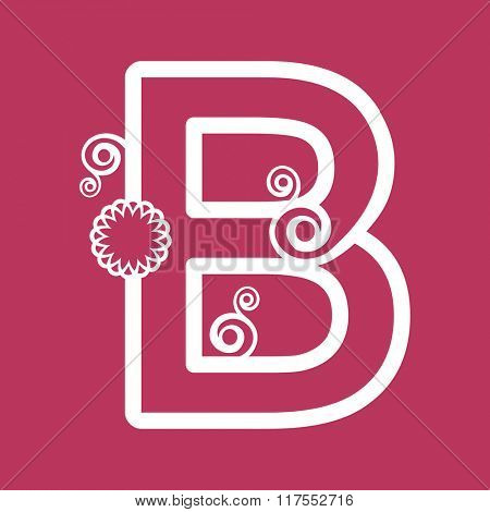 ornamental letter B