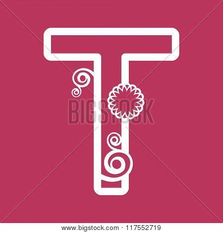 ornamental letter T