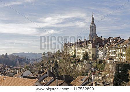 General View Towards City Of Bern, Switzerland