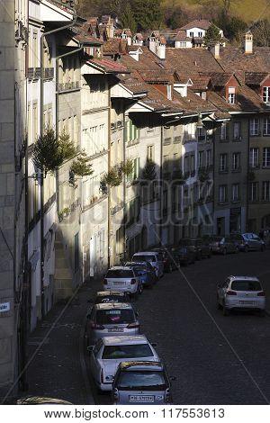 The Buildings Along The Narrow Street