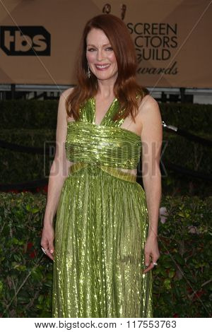 LOS ANGELES - JAN 30:  Julianne Moore at the 22nd Screen Actors Guild Awards at the Shrine Auditorium on January 30, 2016 in Los Angeles, CA