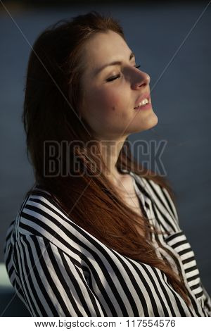Art fashion portrait of young woman