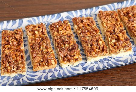 Cookies With Caramelized Walnuts.