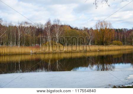Svisloch River Flows In Minsk And Creates Scenic Spots. Belarus.