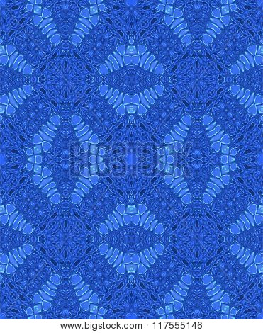 Seamless diamond pattern blue
