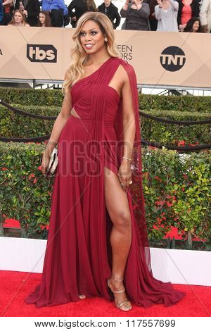 LOS ANGELES - JAN 30:  Laverne Cox at the 22nd Screen Actors Guild Awards at the Shrine Auditorium on January 30, 2016 in Los Angeles, CA