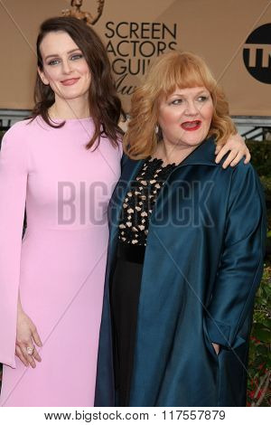 LOS ANGELES - JAN 30:  Sophie McShera, Lesley Nicol at the 22nd Screen Actors Guild Awards at the Shrine Auditorium on January 30, 2016 in Los Angeles, CA