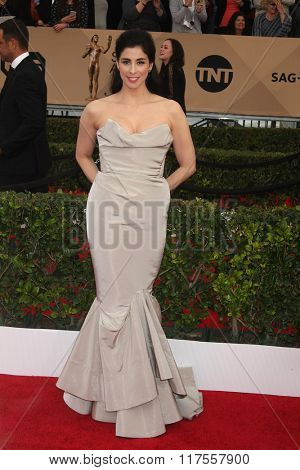 LOS ANGELES - JAN 30:  Sarah Silverman at the 22nd Screen Actors Guild Awards at the Shrine Auditorium on January 30, 2016 in Los Angeles, CA