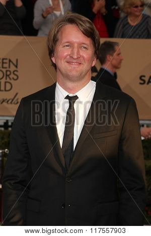 LOS ANGELES - JAN 30:  Tom Hooper at the 22nd Screen Actors Guild Awards at the Shrine Auditorium on January 30, 2016 in Los Angeles, CA