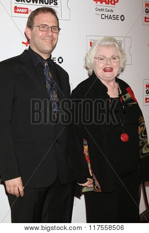 LOS ANGELES - FEB 8:  Harry Kakatsakis, June Squibb at the 15th Annual Movies For Grownups Awards at the Beverly Wilshire Hotel on February 8, 2016 in Beverly Hills, CA