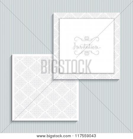Decoration design for a wedding invitation