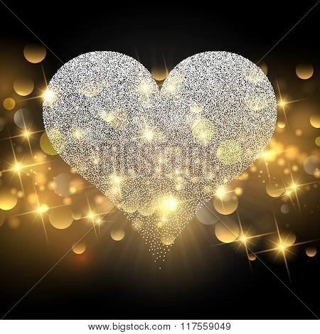 Decorative Valentine's Day background with sparkle design