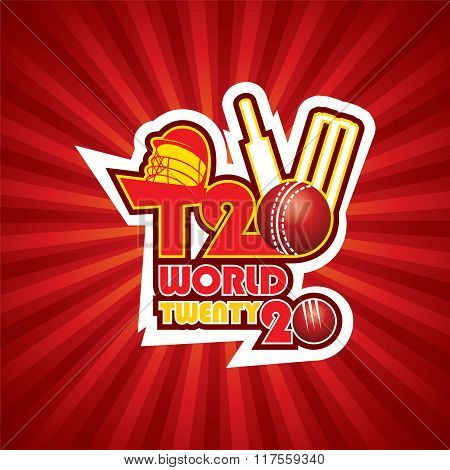 creative T20 cricket cup banner