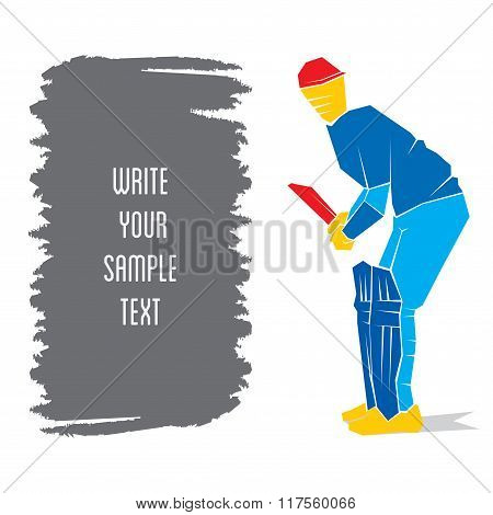 cricket player ready position to hit the ball