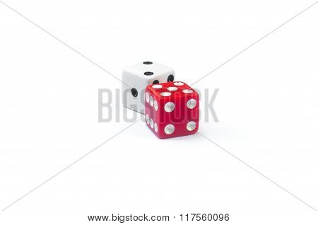 White And Red Dices