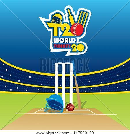 T20 cricket cup banner design