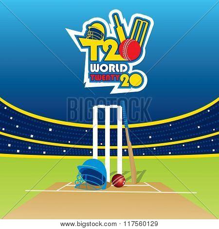 T20 cricket cup banner design
